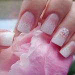 Nail art da sposa invernale