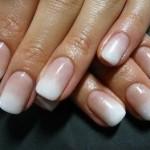 Nail art sfumata da sposa