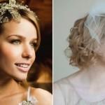 Acconciature sposa capelli medio corti