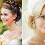 Acconciature sposa con capelli medio corti