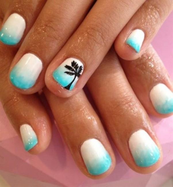 Immagine Nail Art sfumata estate 2015