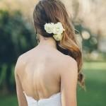 Pettinatura da sposa con capell lunghi sciolti