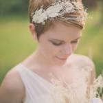 Pettinatura sposa con capelli cortissimi