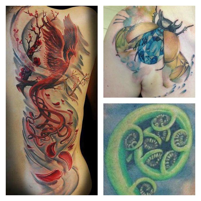 Top Tatuaggi con Significato di Rinascita e Cambiamento: Fenice  GG71