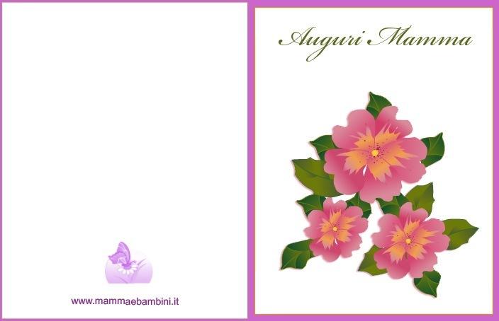 Biglietto Auguri Festa della mamma da stampare
