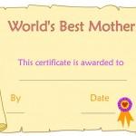 Cartolina Attestato Auguri Festa della mamma