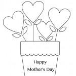 Cartolina da colorare Festa della mamma