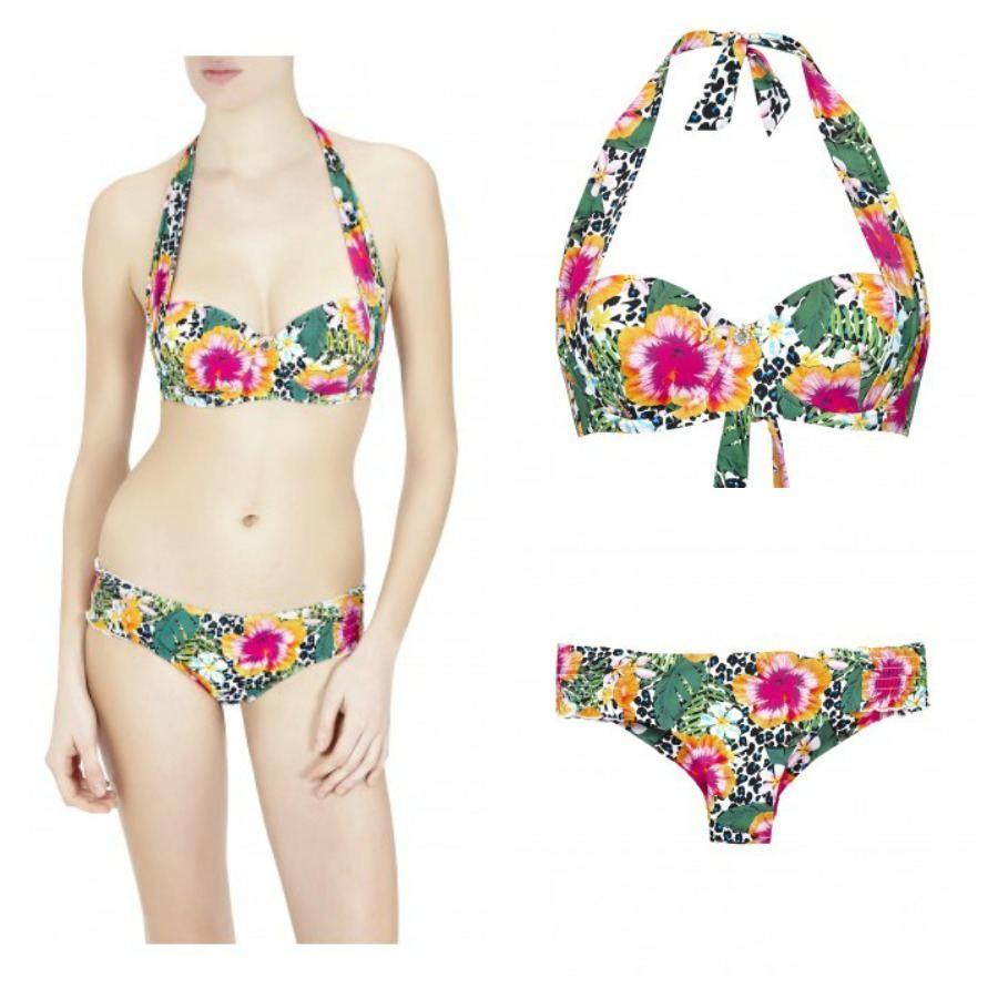 8f68ea7e124f4 Costume da bagno con culotte stampa tropicale Liu Jo estate 2015