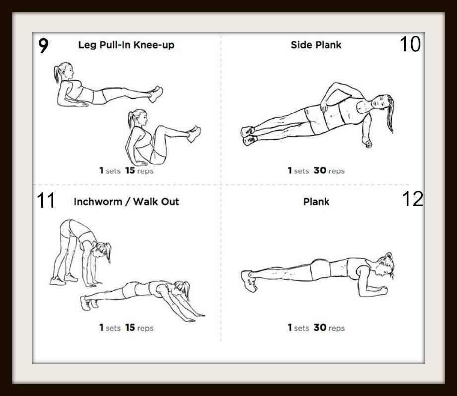 12 esercizi per glutei cosce e addominali da fare in casa - Palestra a casa esercizi ...