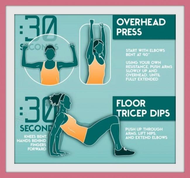 Esercizi per tonificare le braccia senza pesi da fare in casa passo 2