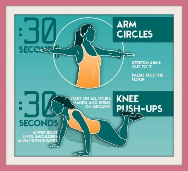 Esercizi per tonificare le braccia senza pesi passo 1