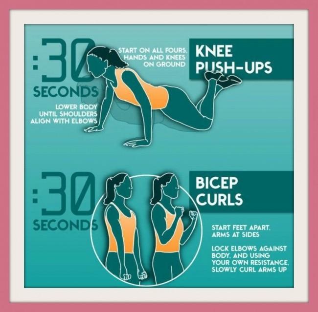 Esercizi per tonificare le braccia senza pesi passo 3