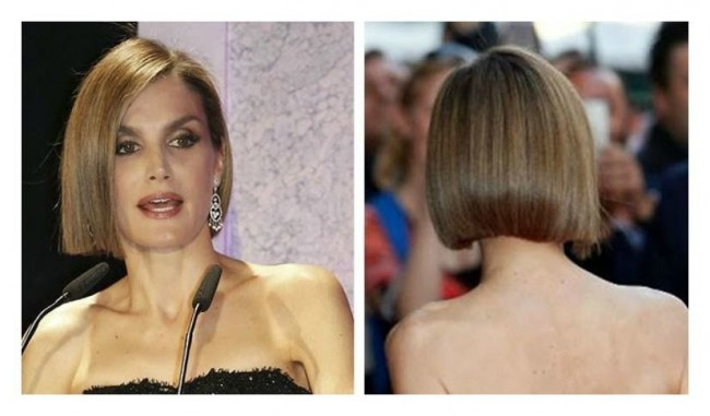 Taglio di capelli medio corto a caschetto per Letizia Ortiz