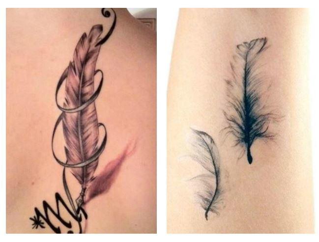Tatuaggi Piume simbolo di Libertà