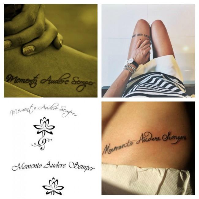 Frase in Latino per Tatuaggio Memento Audere Semper