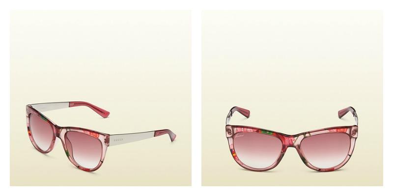 2796d38750 Nuovi occhiali da sole Gucci donna 2015 ad occhi di gatto prezzo 250 euro