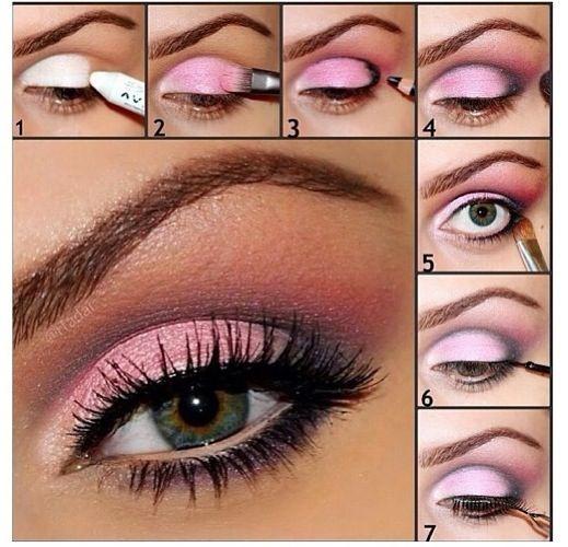 Come truccare gli occhi verdi con il rosa