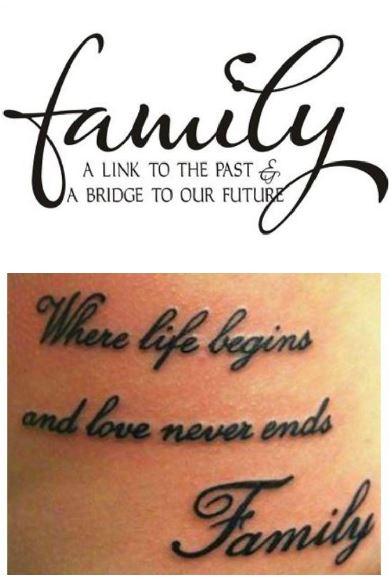 Favoloso Tatuaggi con Significato di Famiglia - Lei Trendy RZ61