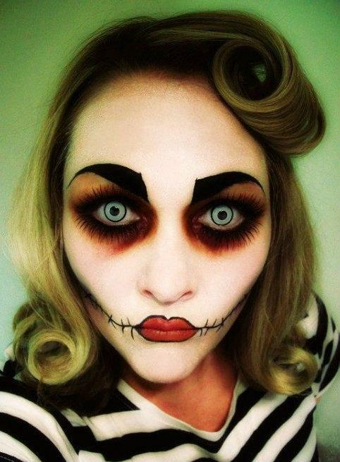 Idea Trucco Halloween da Bambola assassina