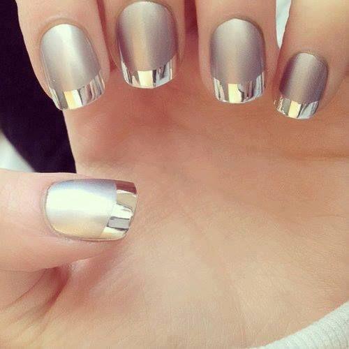 Idea Nail Art metallica Capodanno