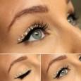 Make up occhi Capodanno con strass applicati