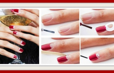 Tutorial facile Nail Art Capodanno 2016