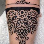 Foto tatuaggio mezzo Mandala