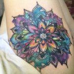 Immagine Tatuaggio Mandala colorato