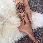 Immagine Tatuaggio Mandala sulla caviglia