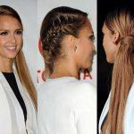 Acconciatura laterale con capelli lunghi per Capodanno
