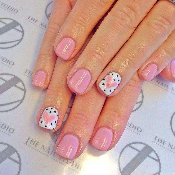 Foto Idea per manicure Nail Art San Valentino