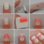 Tutorial Manicure con Nail Art San Valentino