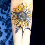 Tatuaggio Fiore di Girasole simbolo di gioia