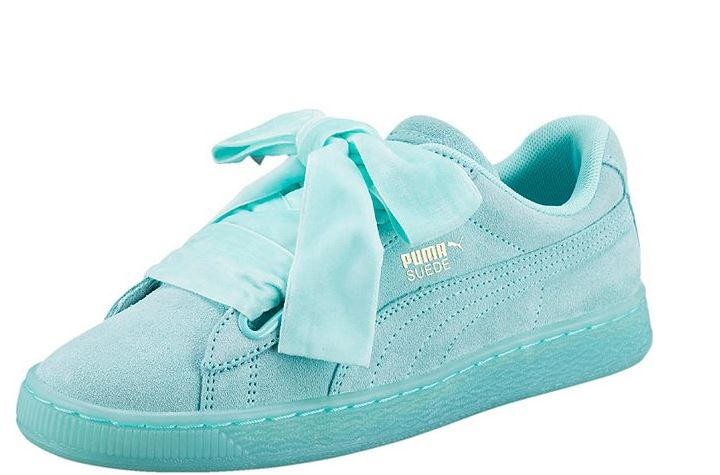Nuove scarpe con fiocco Puma Suede Heart Reset color Blue