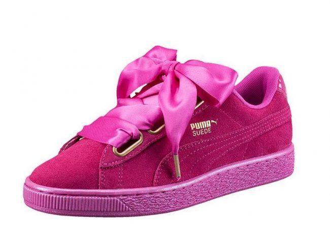 Sneakers Puma con Fiocco primavera estate 2017: Suede Heart