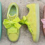 Scarpe sneakers Puma con fiocco Suede Heart primavera 2017