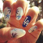 Idea decorazione unghie con palme estate 2017