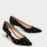 Decollete tacco medio con perle Zara prezzo 39 95 euro