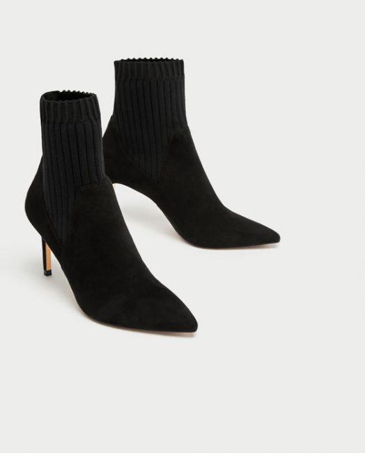 Ankle boot con il gambale calzino elasticizzato a costine e tacco a  stiletto da 7 9b61e356143