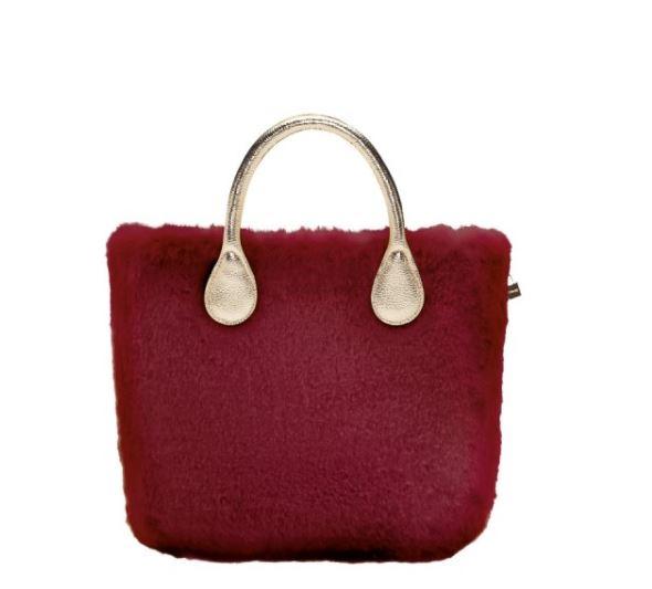 o bag con cover in ecopelliccia vendita online lei trendy. Black Bedroom Furniture Sets. Home Design Ideas