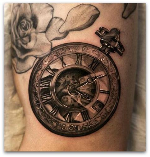 Tatuaggi con simboli del tempo che passa lei trendy for Tattoo simboli di vita