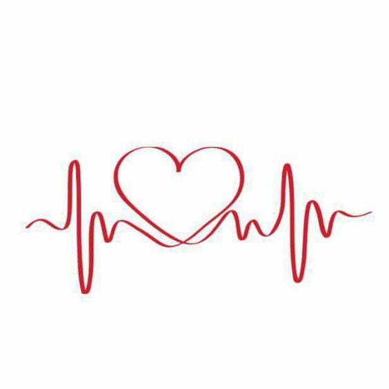 Disegno per tatuaggio con elettrocardiogramma e cuore