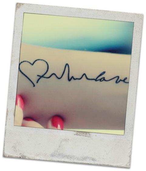 Tatuaggi Elettrocardiogramma con cuore nome Significato e Immagini