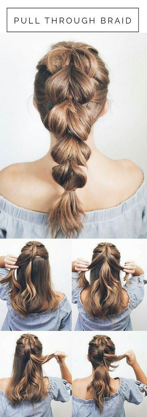 Idea acconciatura con capelli lunghi estiva