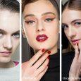 Colore smalto rosso tendenza moda unghie inverno 2018 2019
