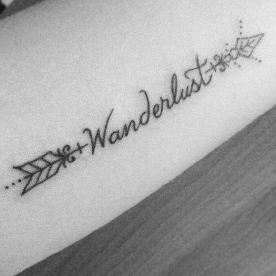 Tatuaggio wanderlust per chi ama viaggiare