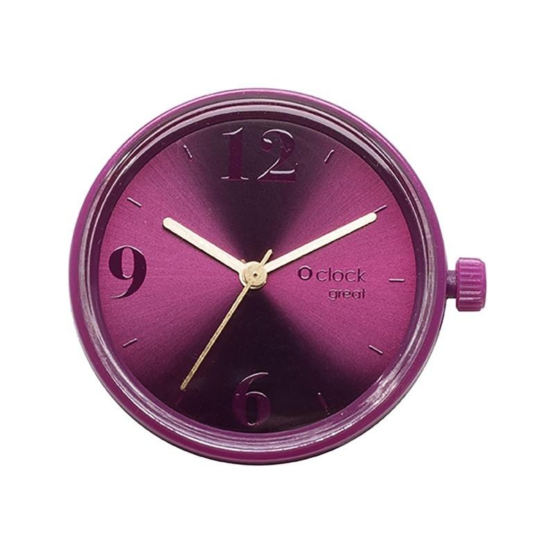 Meccanismo orologio o bag o clock great Number soleil melanzana