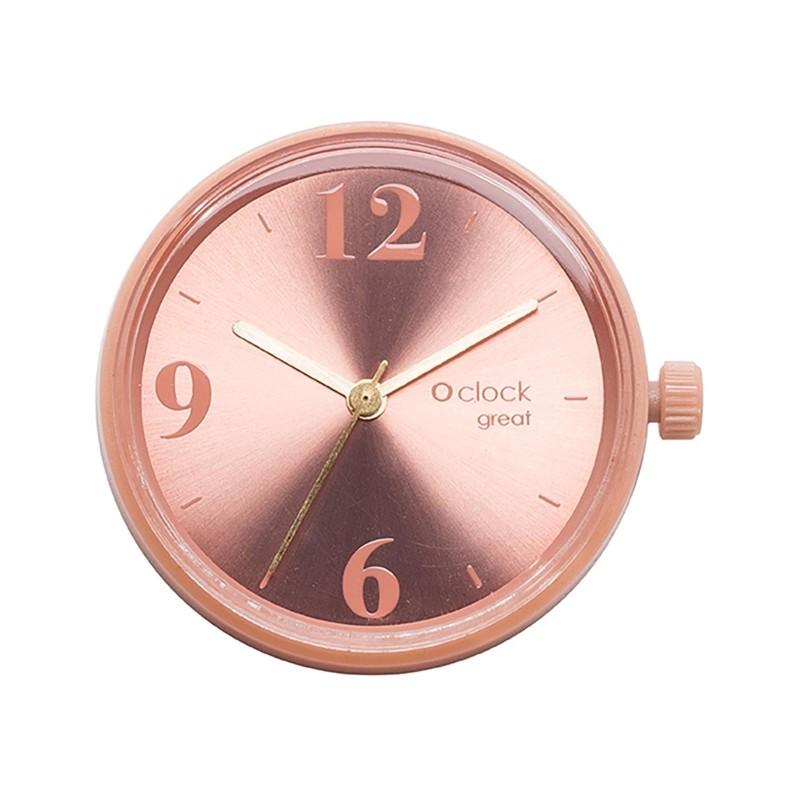 Meccanismo orologio o bag o clock great Number soleil terracotta