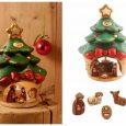 Mini presepe Thun con albero di Natale