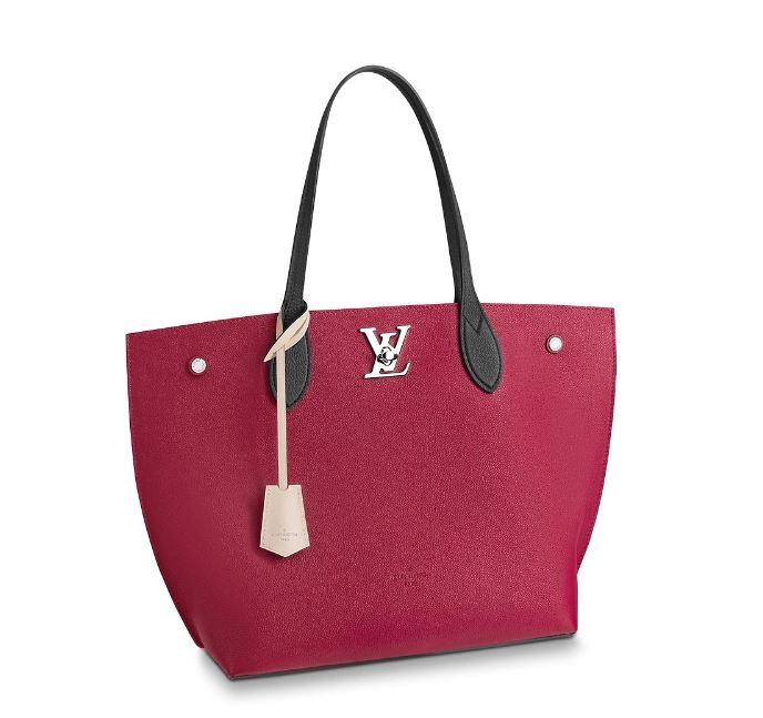 Nuova borsa Louis Vuitton Lock Me Go colore vinaccia